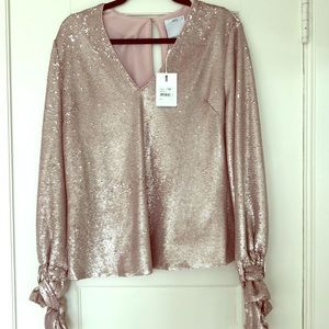 A beautiful rose gold sequin Blouse.